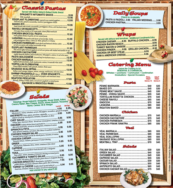 Menu for Bravo Pizza of Glen Mills and Avalon PA